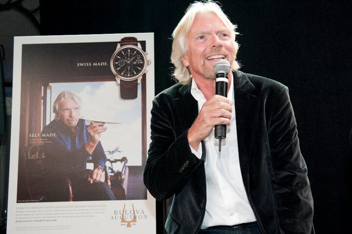 Richard Branson and Bulova Brand