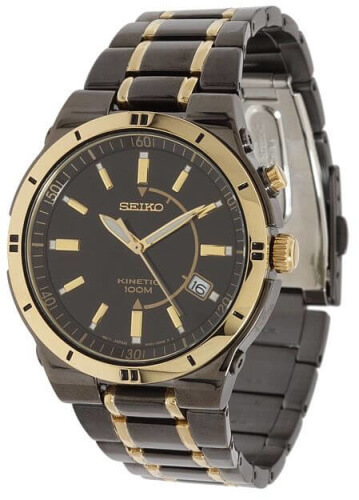 Seiko Men's SKA366 Stainless Steel Two-Tone Kinetic Dress Watch 2