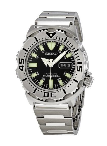 Seiko Men's SKX779 Black Monster Automatic Dive Watch