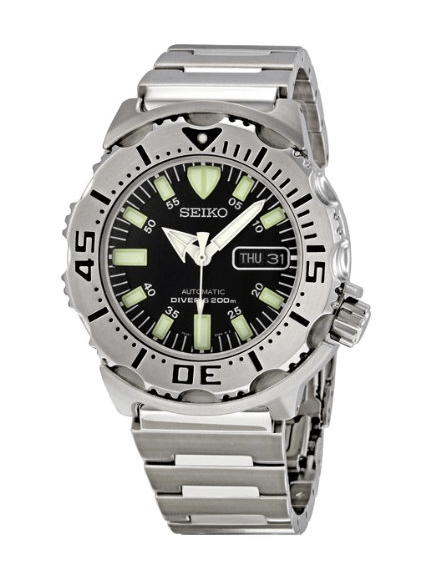 Seiko Men's SKX779 Black Monster Automatic Dive Watch