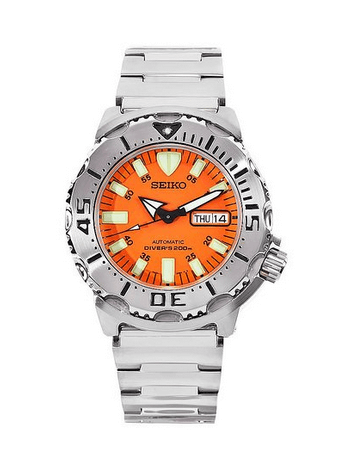 Seiko Men's SKX781 Orange Monster Dive Watch