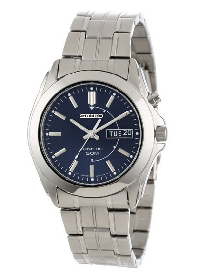 Seiko Men's SMY111 Stainless Steel Kinetic Watch