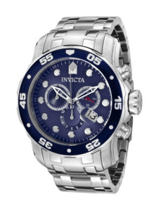Invicta Men's 0070 Pro Diver Collection Stainless Steel and Blue Dial Watch
