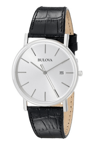 Bulova Men's 96B104 Silver Dial Dress Watch