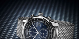Citizen CA0331-56L Eco-Drive Silver Tone blue faced watch