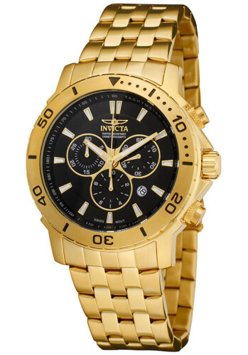Invicta Gold Plated Pro Drivers Watch
