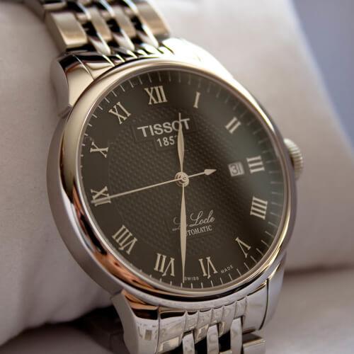 Tissot-T41148353 Locle Black automatic Watch