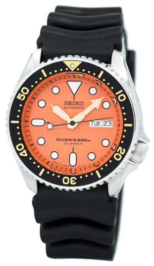 orange dive watch