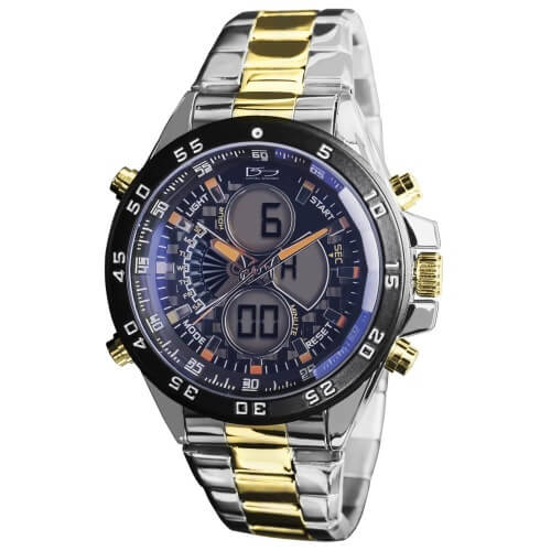 Daniel Steiger Lazer Blue Two Tone Digital Watch