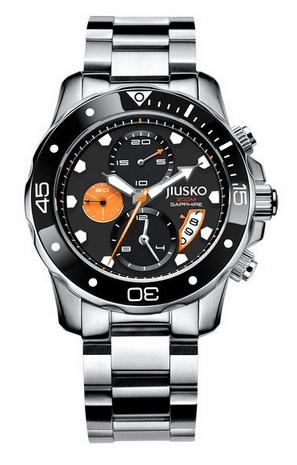 Jiusko Deep Sea 72LSB12 Men's Silver Dive Watch