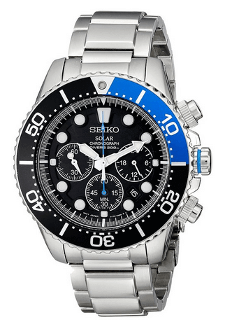 Seiko Men's SSC017 Solar Dive Watch