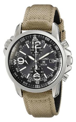 Seiko SSC293P1 Prespex Solar Tactical Military Watch