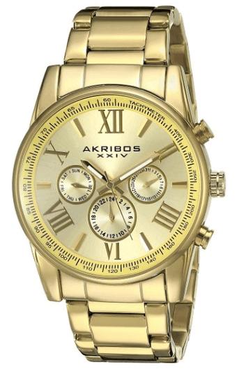 Akribos XXIV Men's AK904YG Yellow Gold Watch