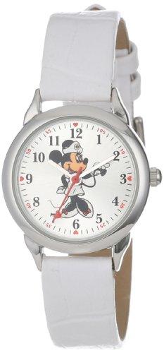 Disney Women's MCK308 Minnie Mouse Nurse White Strap Watch
