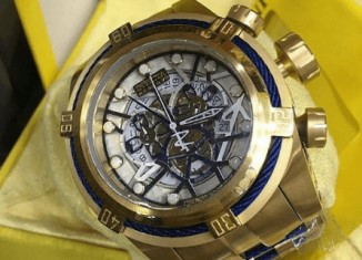 invicta skeleton watch