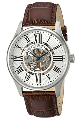 Stuhrling Original 747.01 Atrium Automatic Skeleton Watch