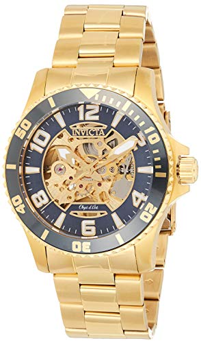 Invicta Men's Objet D Art Automatic-self-Wind Watch with Stainless-Steel Strap, Gold, 22 (Model: 22604)