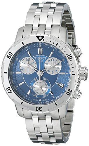 Tissot Men's T0674171104100 PRS 200 Blue Chronograph Dial Watch