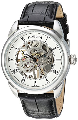 Invicta Men's Specialty Stainless Steel Mechanical-Hand-Wind Watch with Polyurethane Strap, Black, 22 (Model: 23533)